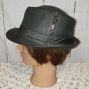 Scala pronto black hat with button details